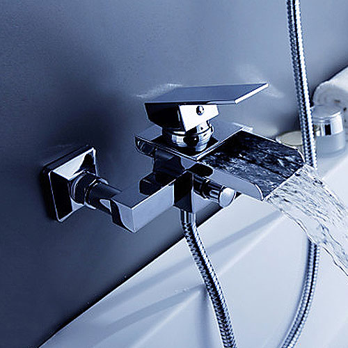 Arian  Calla  Waterfall Bath Shower Mixer Tap with Single. Arian Calla Waterfall Bath Shower Mixer Tap with Single Lever